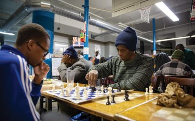 The people in these St. Louis emergency shelters might be some of the city's strongest chess players